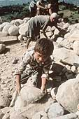 Child working in a stone quarry, Kathmandu