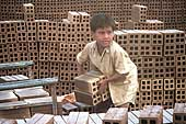 Child working in a brick factory