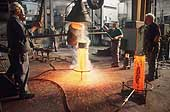 Working in a foundry. Kugler Bimetal Foundry SA