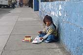 Lima, little girl selling candy in the streets