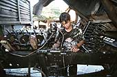 Mechanic in a small village near Luang Prabang
