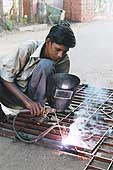 Santhana Krishnan, young freelance welder, Madras