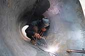 Arc welding, Okhla district, New Delhi.