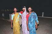 Young male prostitutes on the walkway by Lake Hussain Sagar (Hyderabad)