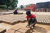 Brick factory on the road to Mangalore, India.