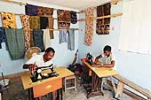 Small sewing workshop on Mandera Road employing a trainee.
