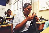 Tailoring workshop of the Dar Es Salaam Regional Vocational Training and Services center.