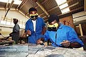 Welding workshop of the Dar Es Salaam Regional Vocational Training and Services Center.