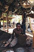 Young blacksmiths from the Katako quarter. Niamey.