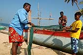 Hard times for fishermen: only 70 out of 400 boats survived the tsunami in Dodanduma. 