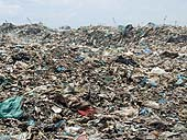 View of a rubbish dump. Manila. Philippines.