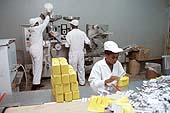 Packing tablets for Kinapharma pharmaceuticals. Accra. Ghana.