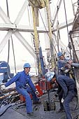 Oil rig workers at Parker Drill Co.(US). Tengiz. Kazakhstan.