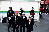Young musicians playing on the street. London. United Kingdom.