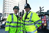 Metropolitan police officers on patrol. London. United Kingdom.