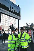Metropolitan police officers on patrol. United Kingdom.