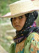 Little girl working in agriculture. Yemen.