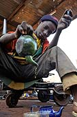 Young boy working in Kita, Mali. 