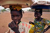 Young girls working in San, Mali.