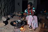 Young servant preparing food. Sévaré, Mali. 