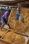 Young boys working at Kalaban Koro sand harbour, Mali.