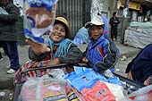 Street sellers. La Paz (Alto), Bolivia.