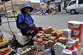 Young street seller. La Paz (Alto), Bolivia.