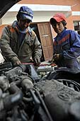 Child mechanic. Potosí, Bolivia.