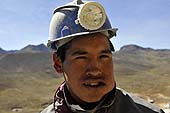 Young worker in a coal mine. Potosí, Bolivia.