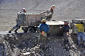 Workers in a coal mine. Potosí, Bolivia.