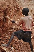 A child labourer in a quarry, Wakiso district, Uganda