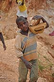 A child of 10 years old working in a quarry, Wakiso district, Uganda