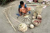 This photo is the result of a photographic competition organized by the International Labour Office New Delhi branch to promote decent work for domestic workers. Original caption by the author: Basket Maker