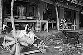 This photo is the result of a photographic competition organized by the International Labour Office New Delhi branch to promote decent work for domestic workers. Original caption by the author: WEAVERS : Cottage industry with maintaining the Gandhian ideology.