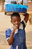 A girl child working in the streets in Lilongwe.