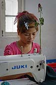 Garment factory that uses child labour. City of Yangon (Rangoon). Report from Myanmar, May 2013.