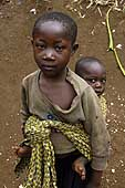 Homeless children. Democratic Republic of the Congo.