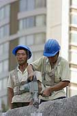 Workers on a construction site. Beijing. China.