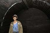 Pit worker. Kailuan Coal Mine Group. Tangshan Qianjiaying Coal Mine. China.