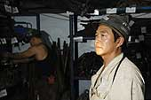 Foreman in a coal mine. Kailuan Coal Mine Group. Tangshan Qianjiaying Coal Mine. China.
