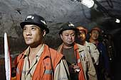 Replacement of the workers. Kailuan Coal Mine Group. Tangshan Qianjiaying Coal Mine. China. 