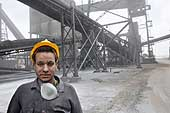 Portrait of a steelworker. Ezz Steel production site is located in Alexandria and employs more than 2000 skilled workers. It is the Middle East's leading producer of high quality long and flat steel for use in a wide range of end applications.