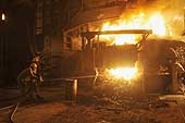 Blast furnace used for smelting. Ezz Steel plant is located in Alexandria and employs more than 2000 skilled workers. It is the Middle East's leading producer of high quality long and flat steel for use in a wide range of end applications.