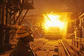 Blast furnace. Ezz Steel plant is located in Alexandria and employs more than 2000 skilled workers. It is the Middle East's leading producer of high quality long and flat steel for use in a wide range of end applications.