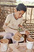 Pottery workshop. Fagnoon Art School and Workshop. Founded by artist Mohamed Allam to provide the opportunity for children to express themselves through artistic activities and crafts. Cairo. Egypt.