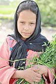 Cairo. Portrait of a young girl in the fields.