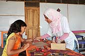 Wood painting. Fagnoon Art School and Workshop. Founded by artist Mohamed Allam to provide the opportunity for children to express themselves through artistic activities and crafts. Cairo. Egypt.