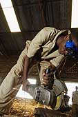 Tinsmith workshop. Vocational training centre for the young of Rwabuye. Rwanda.