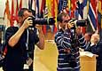 Photographers at the International Labour Conference