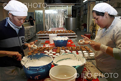 Workers in kosher cake factory. Buenos Aires. Argentina ...